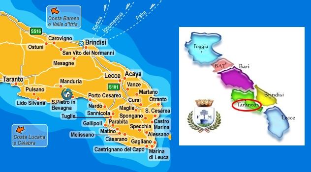 Cartina Puglia Carovigno.Dove Siamo Villetta Vacanze A San Pietro In Bevagna